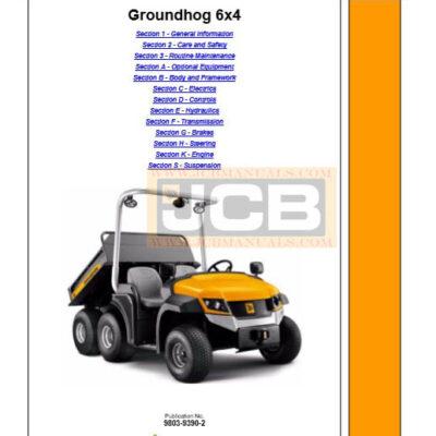 JCB Groundhog 6×4 Service Repair Manual