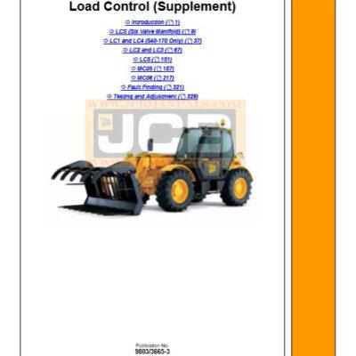 JCB Load Control Supplement Service Repair Manual