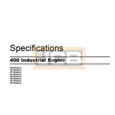 Perkins 400 Industrial Engines Specification Manual