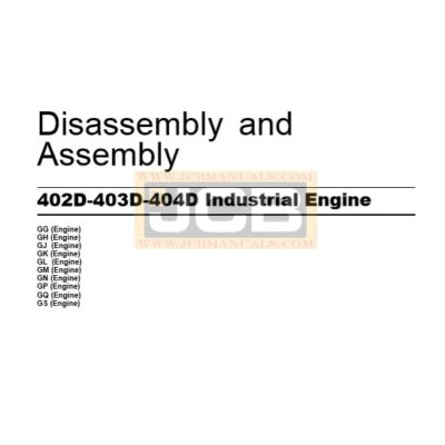 Perkins 402D,403D,404D Disassembly and Assembly Manual