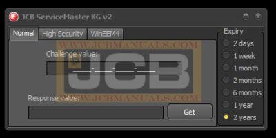 jcb service master activation