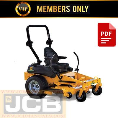 JCB ZT20 Mower Service Repair Manual