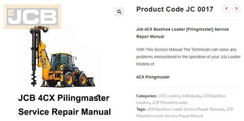 service manual jcb