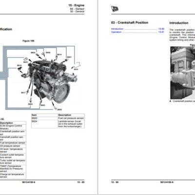 JCB 457 Loader Service Repair Manual