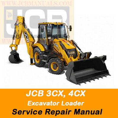 JCB 3CX, 4CX Excavator Loader Service Repair Manual