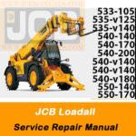 JCB 533-105, 535-v125, 535-v140,540-140, 540-170, 540-200, 540-v140,540-v180, 550-140, 550-170 Service Repair Manual