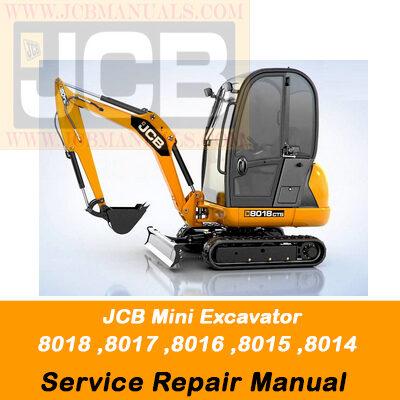 JCB Mini Excavator 8014, 8015, 8016, 8017, 8018 Parts Manual